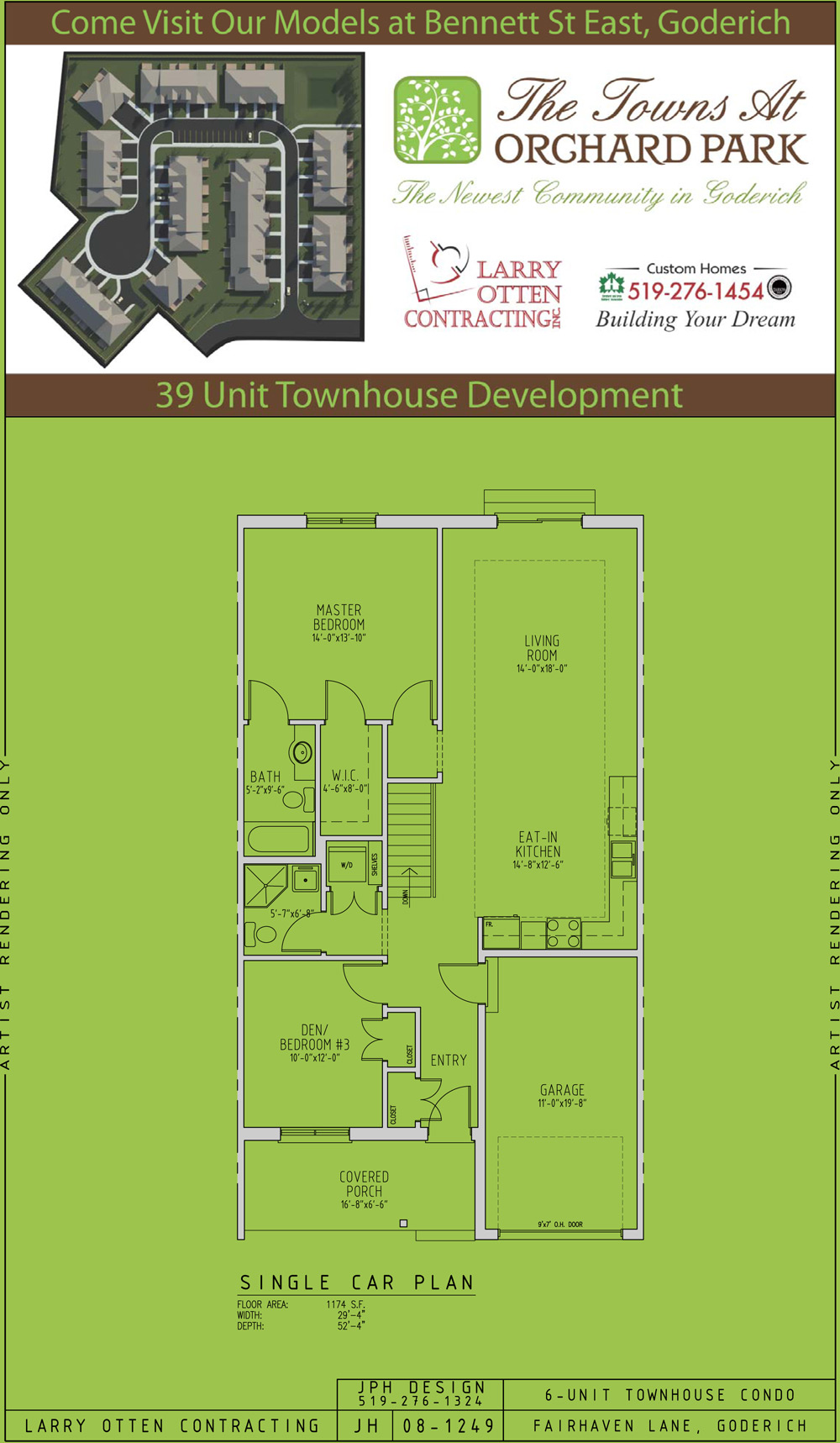 The Towns At Orchard Park Goderich On Floor Plans